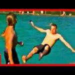 Slippery Pool Jump Fail - NosterafuTV videos - Prank video - jump fail - pool jump fail - pool video fail - jump video fail - pool prank video